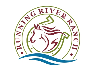 Running River Ranch logo design