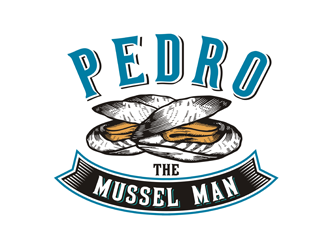 Pedro the Mussel Man logo design