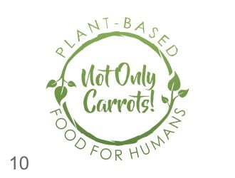 Not Only Carrots! Plant-based Food For Humans. logo design