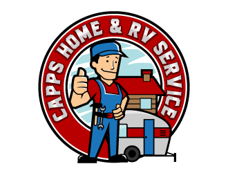 Capps Home & RV Service logo design