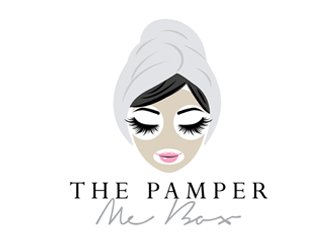 The Pamper Me Box logo design