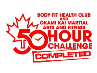Body Fit Health Club and Okami Kai Karate and Fitness logo design