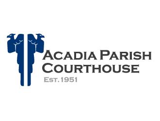 Acadia Parish Courthouse logo design