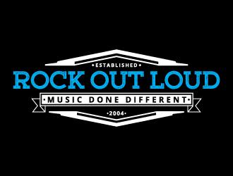 Rock Out Loud (RockOutLoud.com) logo design