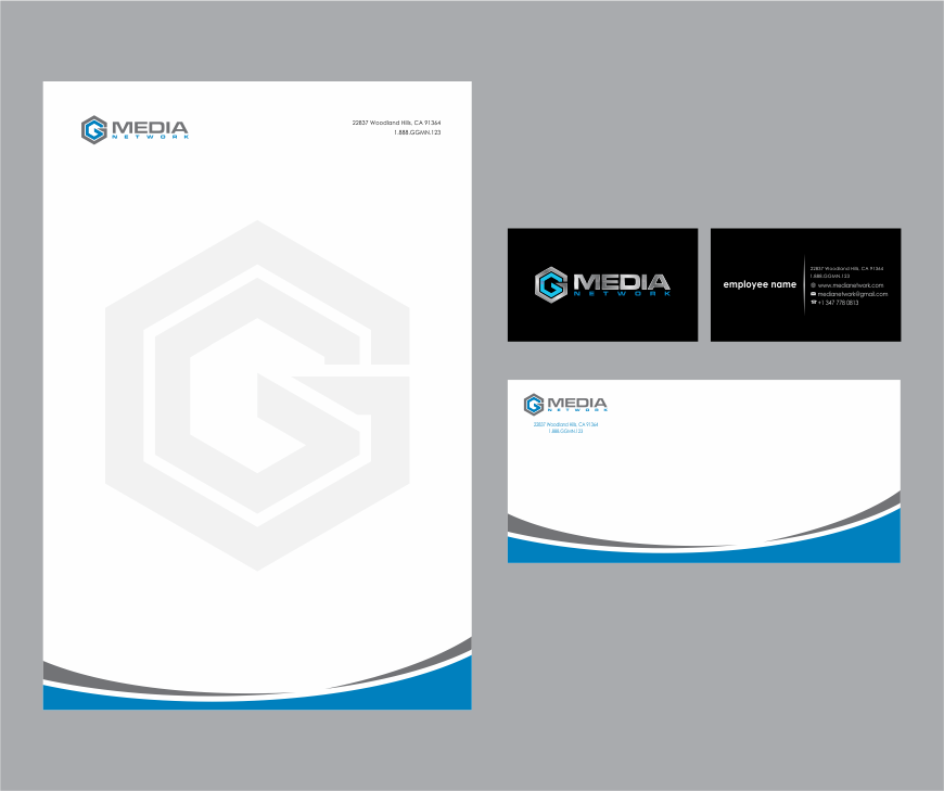 GG Media Network  (GGMN) logo design