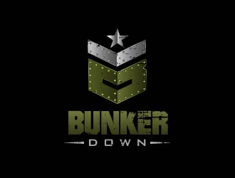 Bunker Down logo design
