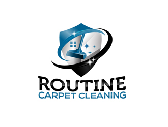 Routine Carpet Cleaning logo design