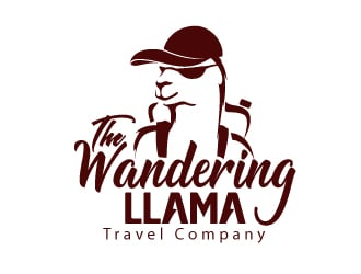 The Wandering Llama Travel Company logo design