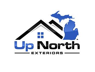 Up North Exteriors logo design