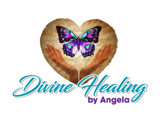 Divine Healing by Angela logo design