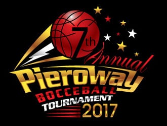 7th annual Pieroway bocce ball tournament 2017 logo design