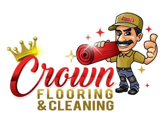 Crown Flooring & Cleaning logo design