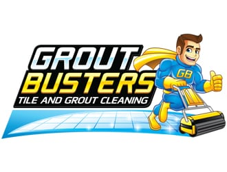 Grout Busters logo design