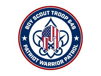 Boy Scout Troop 649/Patriot Warrior Patrol logo design