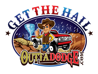 Get The Hail Outta Dodge logo design
