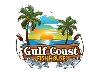 Gulf Coast Fish House logo design