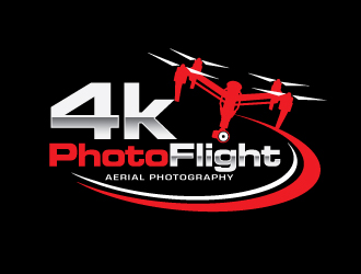 4kPhotoFlight logo design