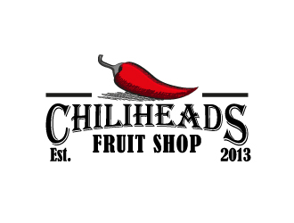 Chiliheads fruit shop logo design