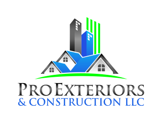 Pro Exteriors & Construction LLC logo design