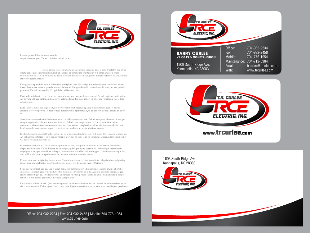 TRCE     T.R. Curlee Electric, Inc. logo design