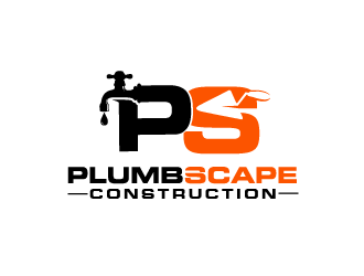 PlumbScape Construction logo design