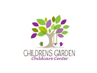 Childrens Garden Childcare Center logo design