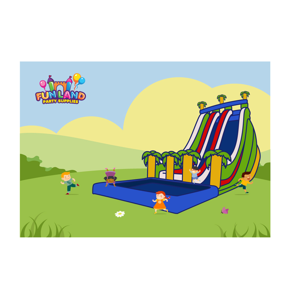 FUN LAND Party Supplies logo design