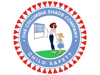 The Columbia Shade Company; Child Safety logo logo design