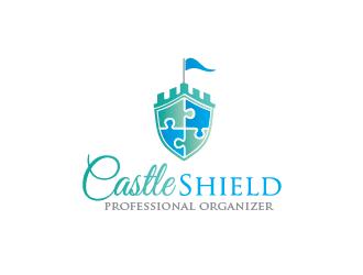 Castle Shield Professional Organizer logo design