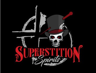 Superstition Spirits logo design