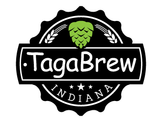 TagaBrew Indiana logo design