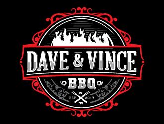 Dave & Vince BBQ logo design