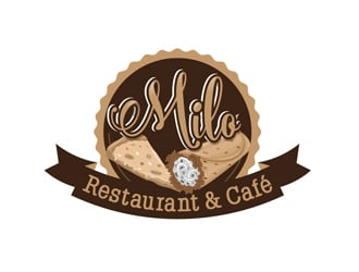 Milo Restaurant & Cafe logo design