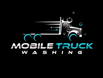MOBILE TRUCK WASHING logo design