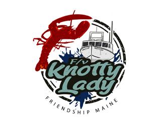 F/V KNOTTY LADY logo design