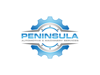 Peninsula automotive & machinery repairs logo design