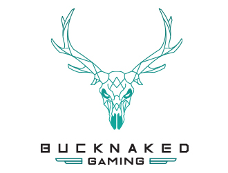 Buck Naked Gaming logo design