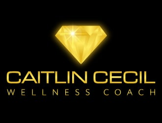 Caitlin Cecil Wellness Coach logo design