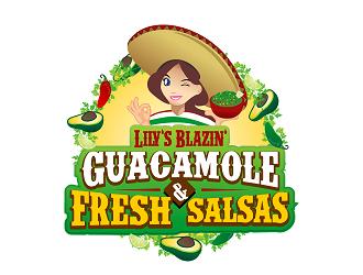 Lilys Blazin Guacamole & Fresh Salsas logo design