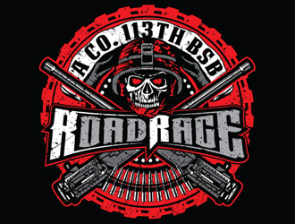 A Co. 113th BSB  RoadRage logo design
