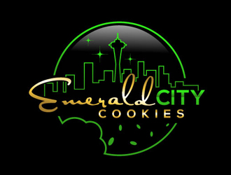 Emerald City Cookies logo design