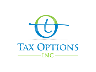 Tax Options Inc logo design