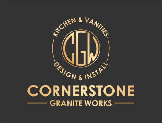Cornerstone Granite Works logo design