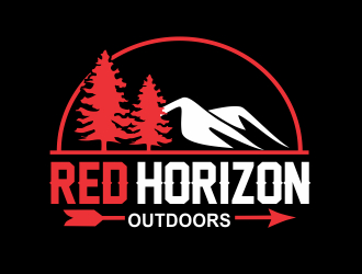 Red Horizon Outdoors logo design