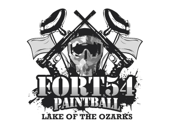 Fort 54 Paintball logo design