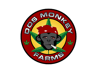 Dos Monkey Farms logo design