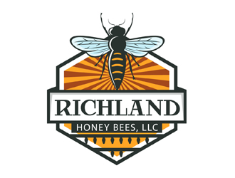 Richland Honey Bees, LLC logo design