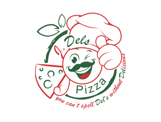J.DELS PIZZA logo design