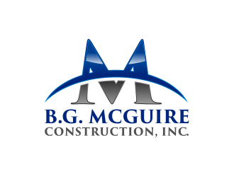 B.G. MCGUIRE CONSTRUCTION, INC. logo design