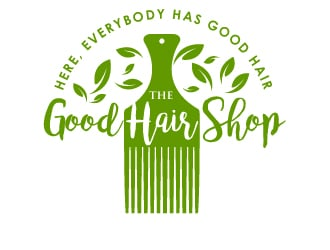 The Good Hair Shop logo design